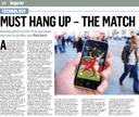 Must hang up - the match is on